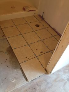 newly-installed tiles